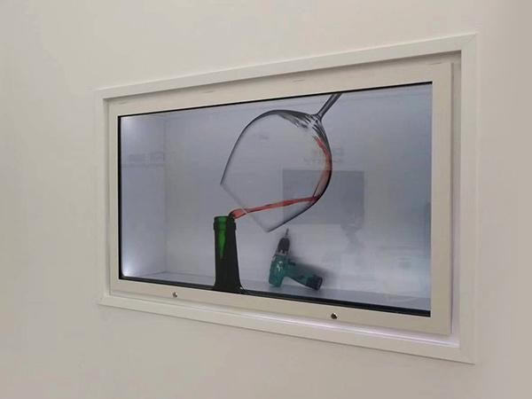 55寸透明展柜 河北公司展厅